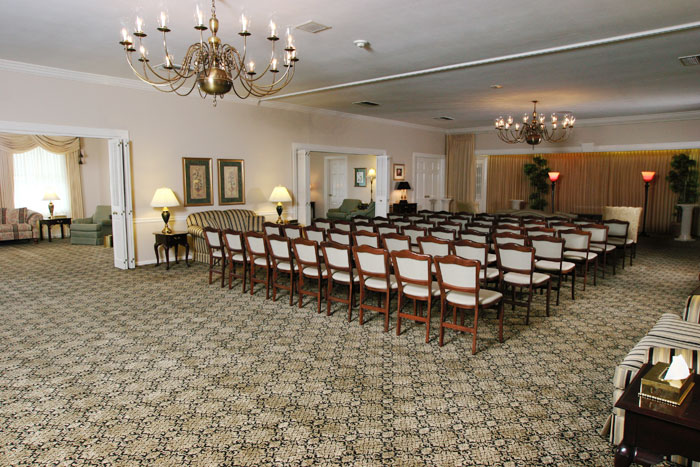 Large rooms for visitation and service